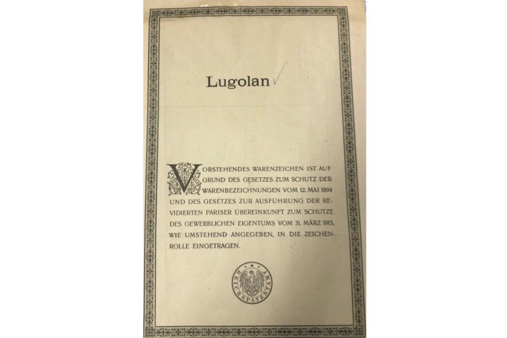 100 Jahre alte Marke LUGOLAN verkauft