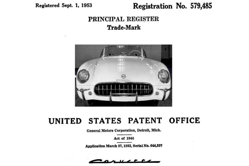 Markenfundstück: CORVETTE - seit 1953