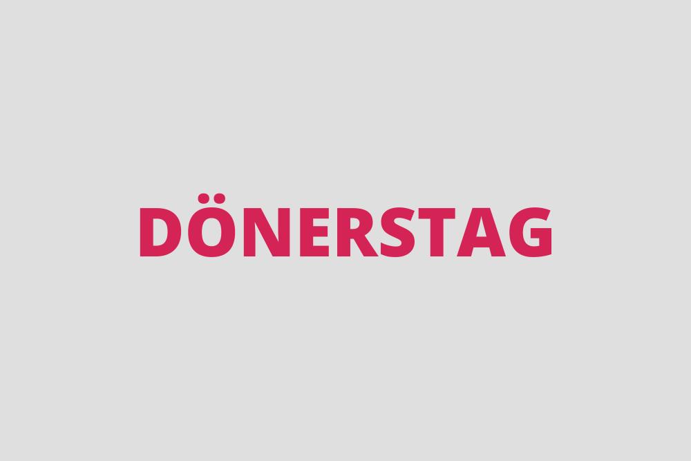 """MARKEN-Fundstück der Woche: """"Dönerstag"""