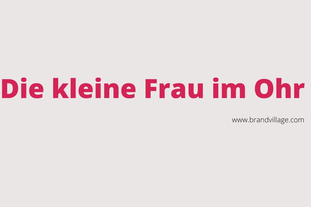 """MARKEN-Fundstücke der Woche: """"Die kleine Frau im Ohr"""""""