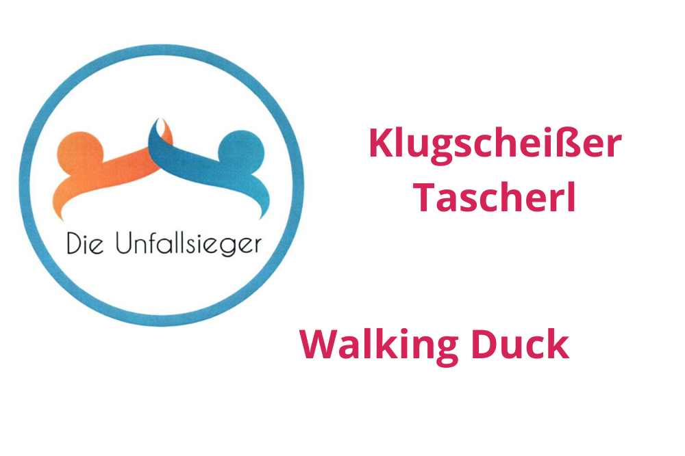 """MARKEN-Fundstücke der Woche: """" Klugscheißer Tascherl"""", """"Walking Duck"""", """"Die Unfallsieger"""""""
