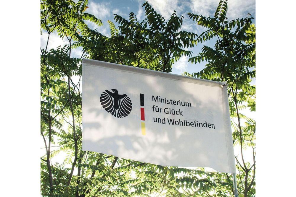 """MARKEN-Fundstücke der Woche: """"Ministerium für Glück und Wohlbefinden"""""""
