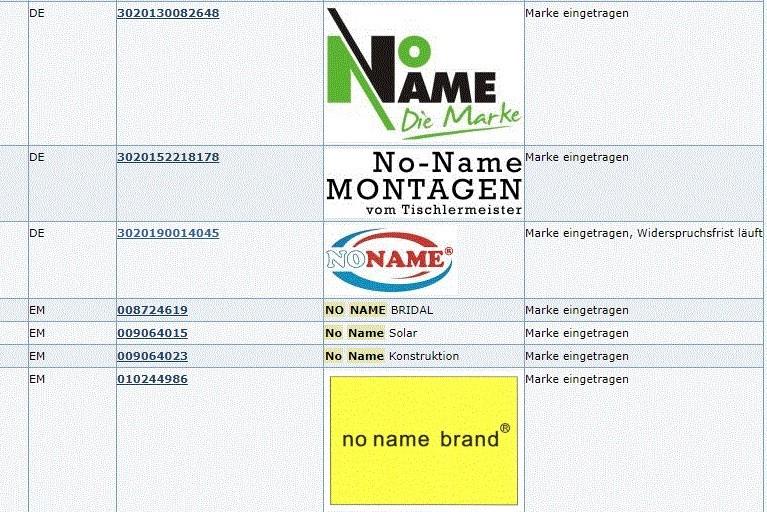 """MARKEN-Fundstück der Woche: """"No Name"""" Marken"""