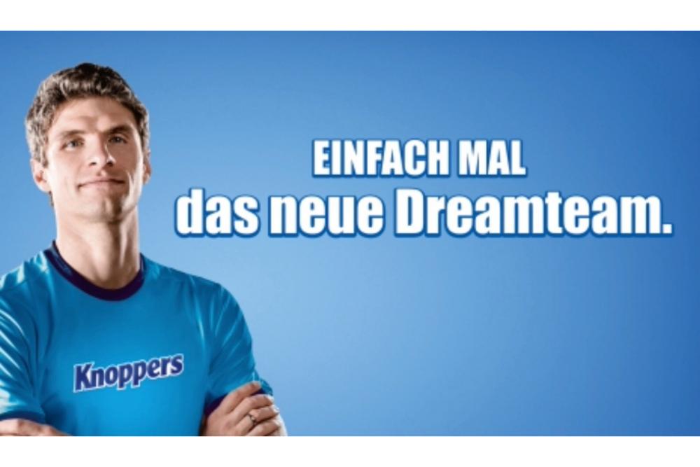Storck-Marke Knoppers geht mit Thomas Müller in die Werbeoffensive