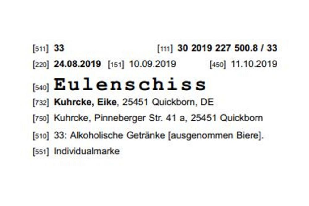 """MARKEN-Fundstück der Woche: """"Eulenschiss"""""""