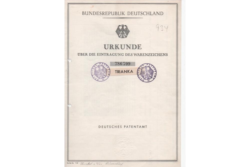 Markenverkauf: Marke TRIANKA von 1964